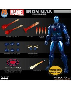 "Mezco One:12 PX Exclusive Stealth Iron Man 6"" Figure"